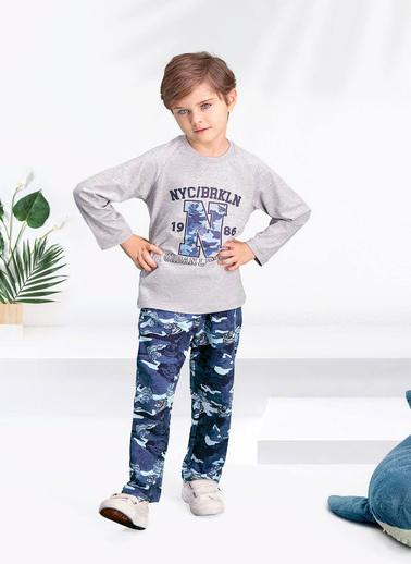 Arnetta  Camouflage 1986 Grimelanj Erkek Çocuk Pijama Takımı Gri